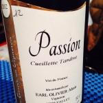 Vallée de la Loire – Vin de France (Muscadt) – Passion – Cueillette Tardive – Alain Olivier - 2012