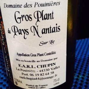Vallée de la Loire - Gros plant du Pays Nantais – Domaine des Pouinières - 2014