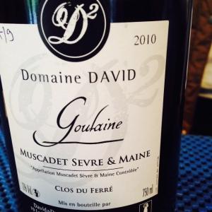 Vallée de la Loire - Muscadet Sèvre et Maine Goulaine - Domaine David - Clos du Ferré - 2010