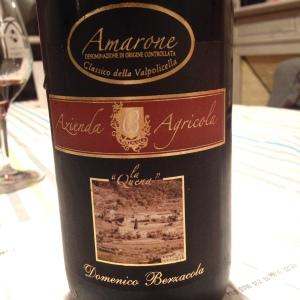 Italie – Valpolicella – Amarone della Valpolicella – Azienda Agricola La Quena – Domenico Berzacola – 2007