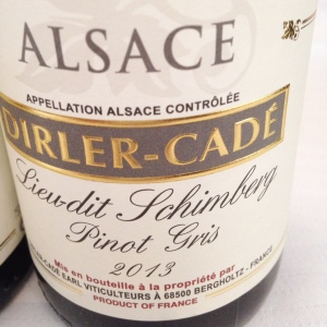 Alsace – Pinot gris – Domaine Dirler-Cadé – Lieu-dit Schimberg – 2013