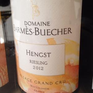 Alsace Grand Cru – Riesling – Domaine Barmès-Buecher – Hengst – 2012