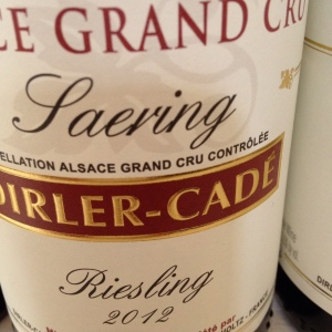 Alsace Grand Cru – Riesling – Domaine Dirler-Cadé – Saering – 2012