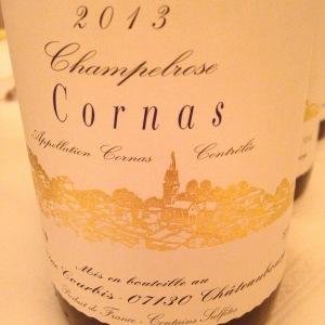 Vallée du Rhône – Cornas – Domaine Courbis – Champebrose – 2013