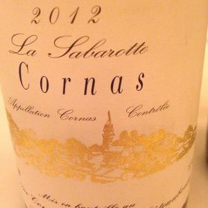 Vallée du Rhône – Cornas – Domaine Courbis – La Sabarotte – 2012