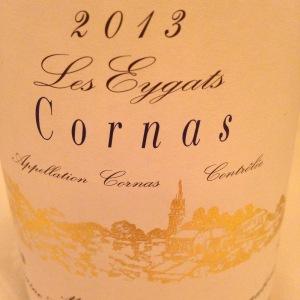 Vallée du Rhône – Cornas – Domaine Courbis – Les Eygats – 2013