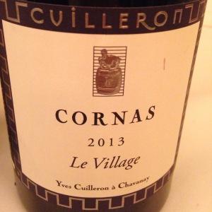 Vallée du Rhône – Cornas – Domaine Cuilleron – Le Village – 2013
