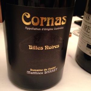 Vallée du Rhône – Cornas – Domaine du Coulet - Matthieu Barret – Billes Noires – 2012