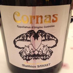 Vallée du Rhône – Cornas – Domaine du Coulet - Matthieu Barret – Cuvée Gorges d'or – 2012