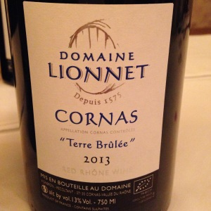 Vallée du Rhône – Cornas – Domaine Lionnet – Terre Brûlée – 2013
