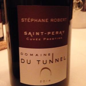Vallée du Rhône – Saint-Péray – Domaine du Tunnel – Stéphane Robert – Cuvée Prestige – 2014