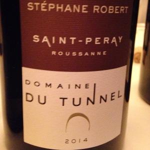 Vallée du Rhône – Saint-Péray – Domaine du Tunnel – Stéphane Robert – Roussanne – 2014