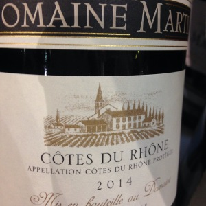 Vallée du Rhône - Côtes du Rhône - Domaine Martin - 2014 - rouge