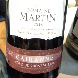 Vallée du Rhône - Côtes du Rhône Villages Cairanne - Domaine Martin - 2014