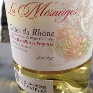 Vallée du Rhône – Côtes du Rhône – Les Vignerons du Castelas – Les Mésanges – 2014 (blanc)