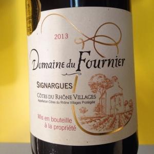 Vallée du Rhône – Côtes du Rhône Villages Signargues – Les Vignerons du Castelas – Domaine du Fournier – 2013