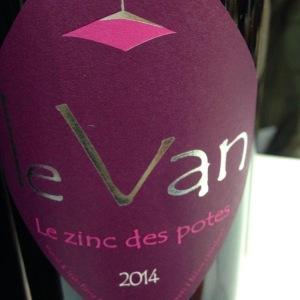 Vallée du Rhône - Ventoux - Domaine le Van - le zinc des potes - 2014