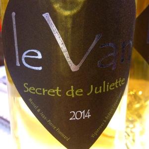 Vallée du Rhône - Ventoux - Domaine le Van - Secret de Juliette - 2014