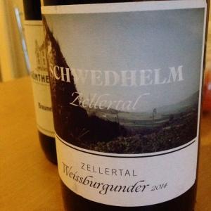 Allemagne - Pfalz (Zellertal) - Weingut Schwedhelm - Weissburgunder - 2014