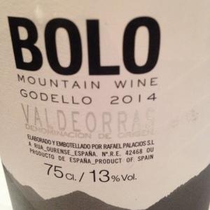 Espagne - Galice - Valdeorras - Rafael Palacios - Bolo Mountain Wine - Godello - 2014