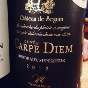 Bordelais - Bordeaux Supérieur - Château de Seguin - Cuvée Carpe Diem - 2012