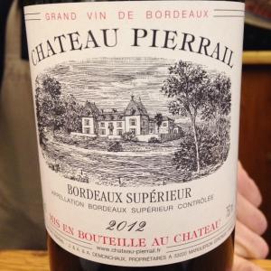 Bordelais - Bordeaux Supérieur - Château Pierrail - 2012