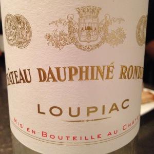 Bordelais - Loupiac - Château Dauphiné Rondillon - 2009