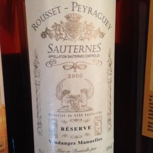 Bordelais - Sauternes - Domaine Rousset-Perraguey - 2000