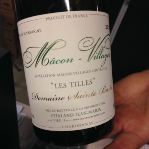 Bourgogne - Mâcon-Villages - Domaine Sainte Barbe - Jean-Marie Chaland - 2014
