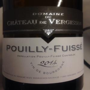 Bourgogne - Pouilly-fuissé - Domaine du Château de Vergisson - 2014