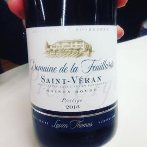 Bourgogne - Saint-Véran - Domaine de la Feuillarde - Maison Rouge - Cuvée Prestige - 2013