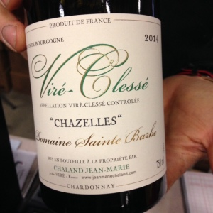 Bourgogne - Viré Clessé - Domaine Sainte Barbe - Jean-Marie Chaland - Chazelles - 2014