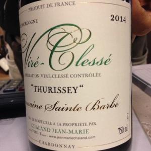 Bourgogne - Viré-Clessé - Domaine Sainte Barbe - Jean-Marie Chaland - Thurissey