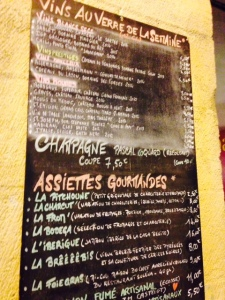 Bordeaux - Wine More Time - Bar à vins - 03 - Carte