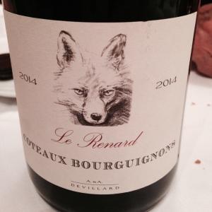 Bourgogne - Coteaux Bourguignons - A&A Devillard - Le Renard - 2014