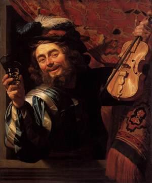 Amsterdam-Rijksmuseum-Gerard_van_Honthorst_-_The_Merry_Fiddler- Le joyeux violonniste