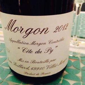Beaujolais - Morgon - Jean Foillard - Côte du Py - 2012