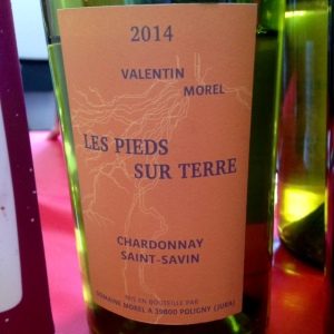 Jura - Les pieds sur Terre - Valentin Morel - Chardonnay - Saint-Savin - 2014