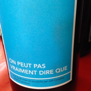 Languedoc-Roussillon - Vin de France - Mas Coutelou - On peut pas vraiment dire que - 2014