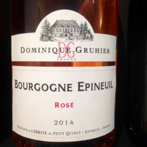 Bourgogne - Domaine de l'Abbaye du Petit Quincy - Dominique Gruhier - Bourgogne Epineuil - 2014 - Rosé
