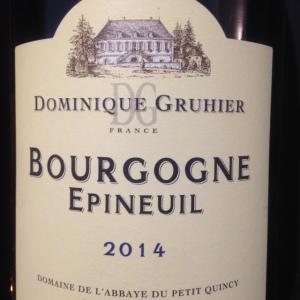 Bourgogne - Domaine de l'Abbaye du Petit Quincy - Dominique Gruhier - Bourgogne Epineuil - 2014 - Rouge