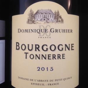Bourgogne - Domaine de l'Abbaye du Petit Quincy - Dominique Gruhier - Bourgogne Tonnerre - 2015