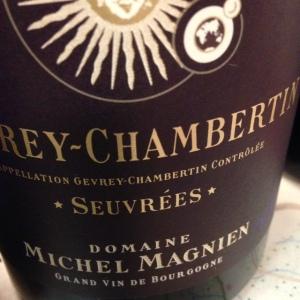 Bourgogne - Gevrey-Chambertin - Domaine Michel Magnien - Seuvrées - 2014