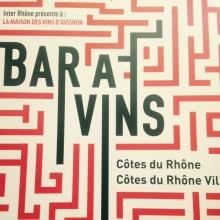 Bar à vins inter-rhone - avignon - festival - façade