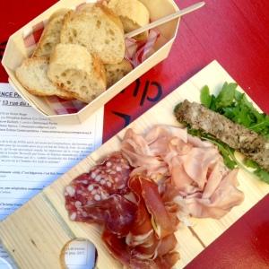 Bar à vins inter-rhone - avignon - festival - planches