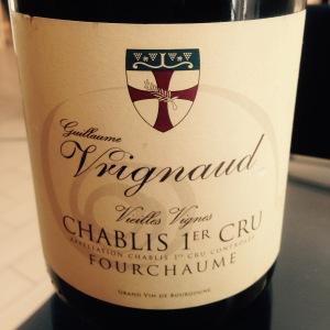 Bourgogne - Chablis 1er Cru - Guillaume Vrignaud - Fourchaume - Vieilles Vignes - 2012