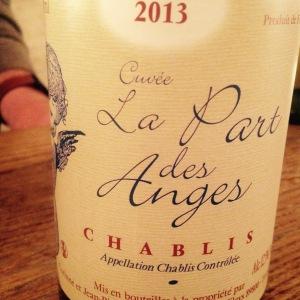 Bourgogne - Chablis - Domaine Corine et Jean-Pierre Grossot - La Part des Anges - 2013
