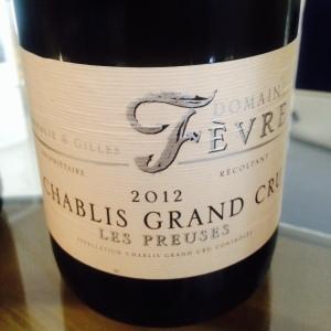 Bourgogne - Chablis Grand Cru - Domaine Fèvre - Les Preuses - 2012