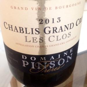 Bourgogne - Chablis Grand Cru - Domaine Pinson Frères - Les Clos - 2013