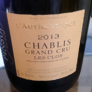 Bourgogne - Chablis Grand Cru - Domaine Pinson Frères - Les Clos - L'Authentique - 2013